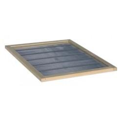 Ostrowskiej - krata odgrodowa metalowa w ramce drewnianej